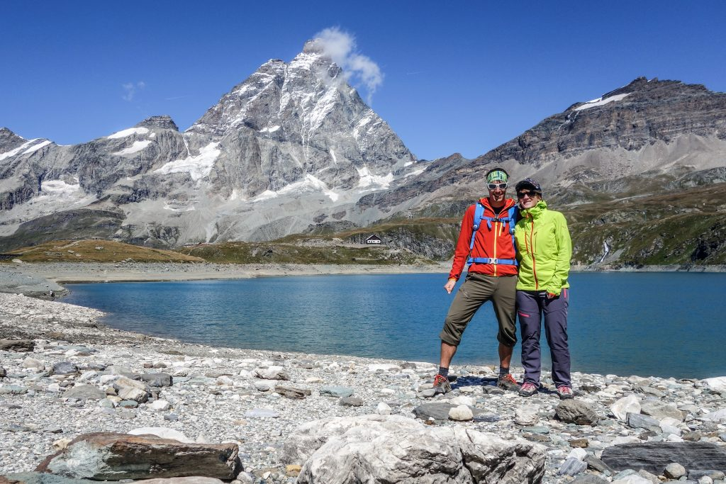 Cervinia, mit Blick aufs Matterhorn