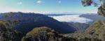 Blick zu den Three Sisters in den Blue Mountains