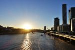 Sonnenuntergang über dem Brisbane River