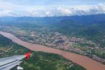 Blick zurück auf Luang Prabang und den Mekong