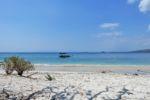 Der Strand vor unserem Hotel in Gili Gede