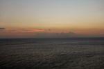 Sonnenuntergang bei Senggigi mit Blick auf den Gunung Agung