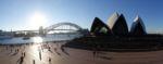 Opernhaus mit Harbour Bridge im Hintergrund