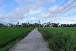 Unser Hotel mitten in den Reisfeldern