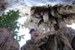 Klettern in einer Höhle